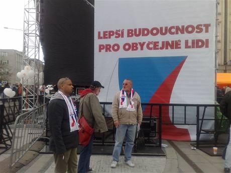 Z mítinku ČSSD v Ostravě.